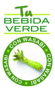 Bebida verde con wasabi